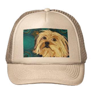 Digital Paint of a Cute Toy Dog in Golden Tones Trucker Hats