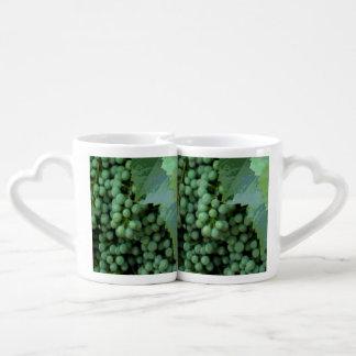 Digital Painted Grapes Coffee Mug Set
