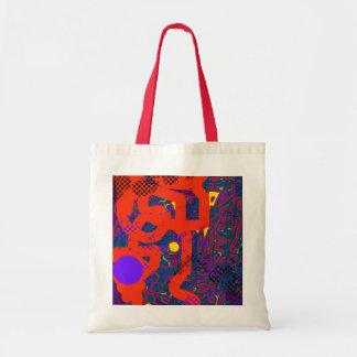 Digital painting artsy look budget tote bag