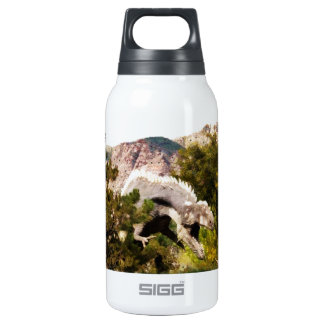 Digital Painting of Dinosaur Amongst Trees Insulated Water Bottle