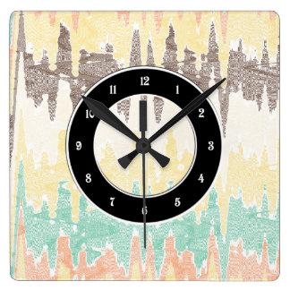 Digital painting square wall clock