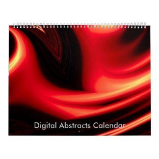 Digital Paintings Computer Abstract 2017 Calendar