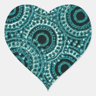 Digital Paper Effect Heart Sticker