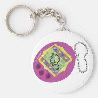 Digital Pet Basic Round Button Keychain