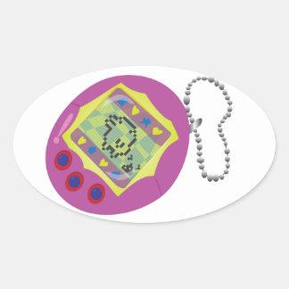 Digital Pet Oval Sticker
