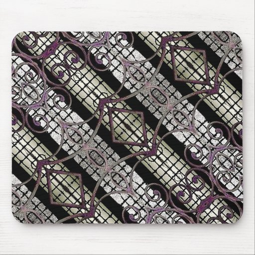 Digital Photo Collage Pattern Mouse Pad