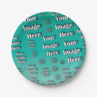 Digital Photo Template 7 Inch Paper Plate