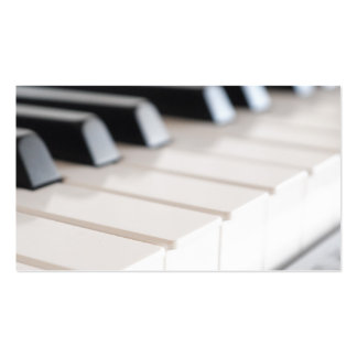 Digital piano keyboard business card template