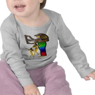 Digital pintada; Ropa temprana del egipcio dos Camiseta