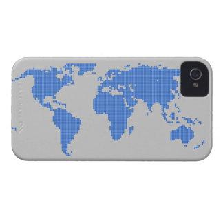 Digital pixel bitmap world map graphic Case-Mate iPhone 4 case