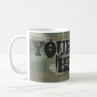 Digital pixel camouflage coffee mug   Personalize