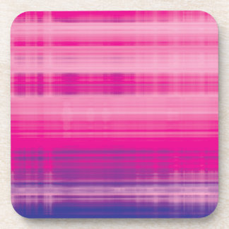 Digital Plaid Pink Purple Pattern Beverage Coaster