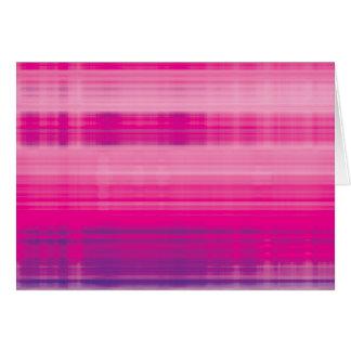 Digital Plaid Pink Purple Pattern Card