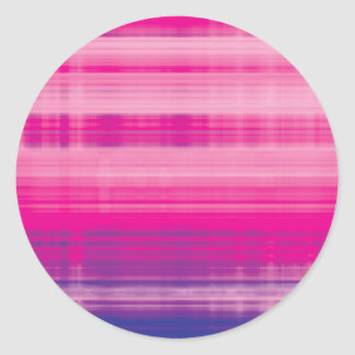 Digital Plaid Pink Purple Pattern Classic Round Sticker