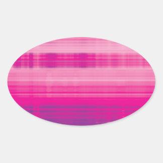 Digital Plaid Pink Purple Pattern Oval Sticker