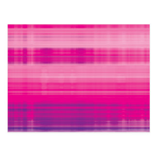Digital Plaid Pink Purple Pattern Postcard