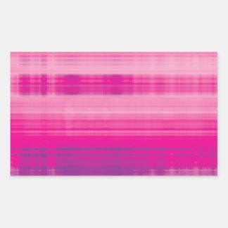 Digital Plaid Pink Purple Pattern Rectangular Sticker