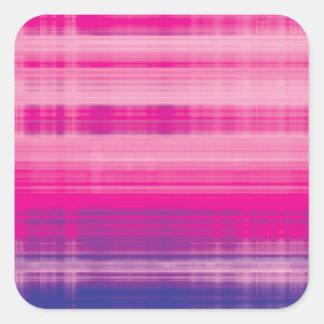 Digital Plaid Pink Purple Pattern Square Sticker