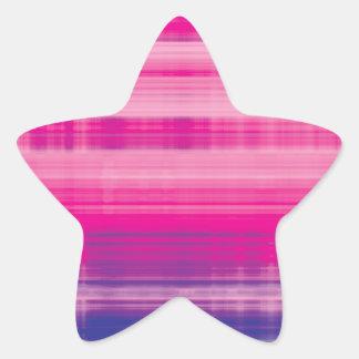 Digital Plaid Pink Purple Pattern Star Sticker