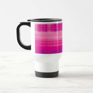 Digital Plaid Pink Purple Pattern Travel Mug