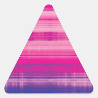 Digital Plaid Pink Purple Pattern Triangle Sticker