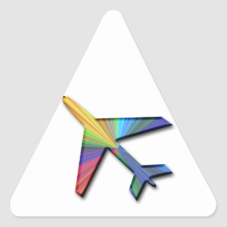digital plane triangle stickers