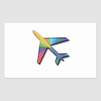 digital plane rectangle sticker