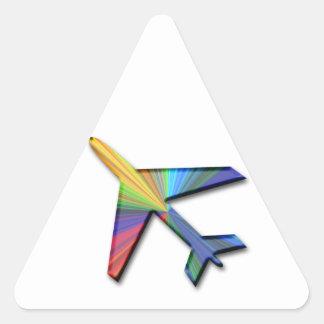 digital plane triangle sticker