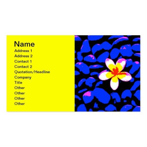 Digital Plumeria Painting Business Cards