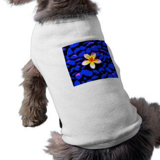 Digital Plumeria Painting Shirt