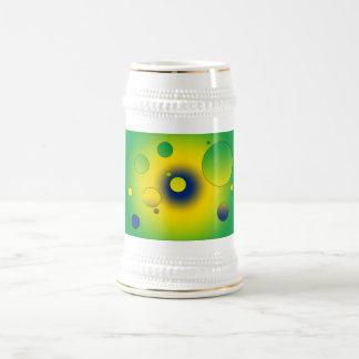 Digital Pop Art: Flag Colors of Brazil Beer Stein