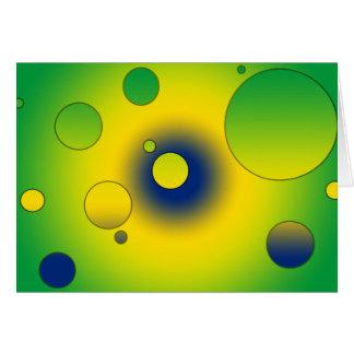 Digital Pop Art: Flag Colors of Brazil Card