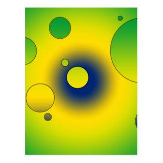 Digital Pop Art: Flag Colors of Brazil Postcard