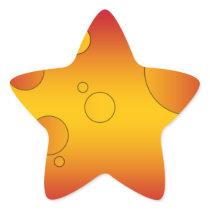Digital Pop Art: Flag Colors of Spain Star Sticker