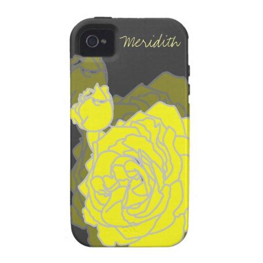 Digital Pop Art Sunshine Yellow Rose iPhone 4/4S Case