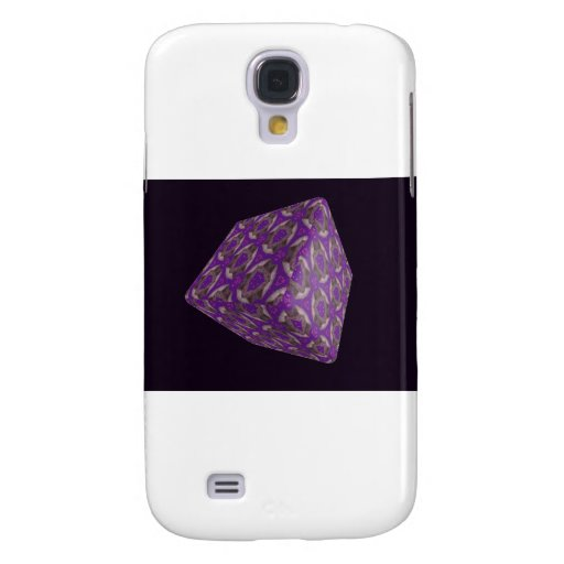 Digital Purple Cube Art Galaxy S4 Cover