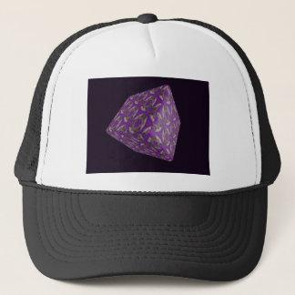 Digital Purple Cube Art Trucker Hat