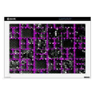 Digital purple design laptop skin