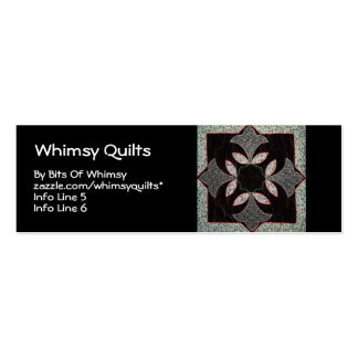 Digital Quilt Double-Sided Mini Business Cards (Pack Of 20)