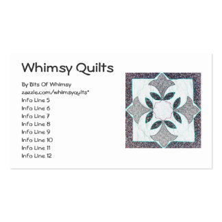 Digital Quilt Double-Sided Standard Business Cards (Pack Of 100)