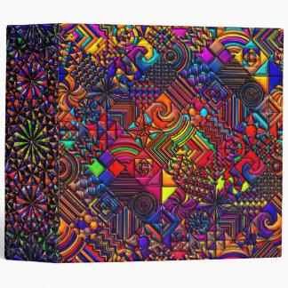 digital quilt modern retro binder