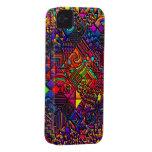 digital quilt modern retro Case-Mate iPhone 4 cases