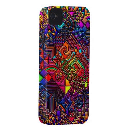 digital quilt modern retro Case-Mate iPhone 4 case