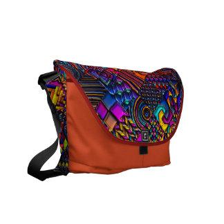 digital quilt modern retro digital metallic art courier bags