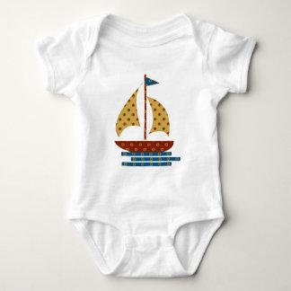 Digital Quilt  Sailboat Baby Bodysuit