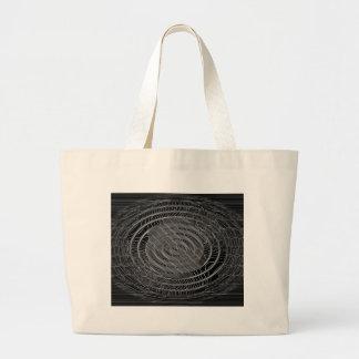 Digital Radial Circles Blur GlowArt Beautiful Desi Large Tote Bag
