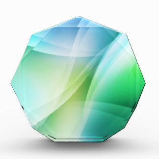 Digital Radial Colours Blur Glow Art Beautiful Des Acrylic Award
