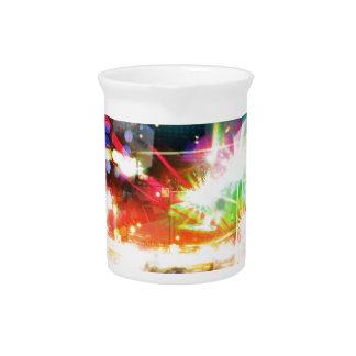 Digital Radial Colours Blur Glow Art Beautiful Des Beverage Pitcher