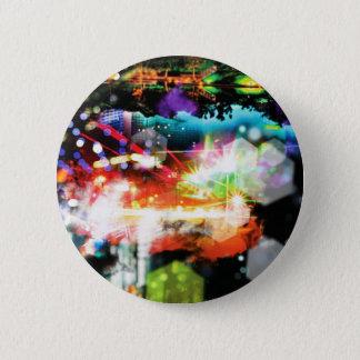 Digital Radial Colours Blur Glow Art Beautiful Des Button