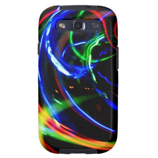 Digital Radial Colours Blur Glow Art Beautiful Des Galaxy S3 Covers